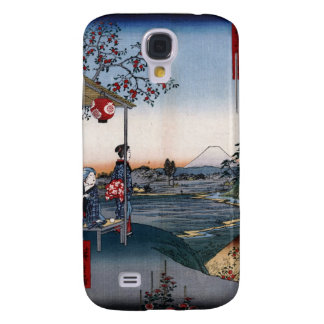 Mt. Fuji Viewed from a Teahouse c. 1800s Japan Galaxy S4 Cases