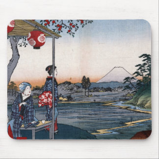 Mt Fuji Viewed from a Teahouse c 1800s Japan Mousepads