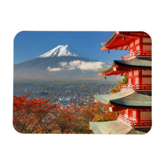 Mt. Fuji viewed from behind Chureito Pagoda Magnet