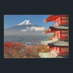 """Mt. Fuji viewed from behind Chureito Pagoda Placemat<br><div class=""""desc"""">Mt. Fuji viewed from behind Chureito Pagoda. &#169; and &#174; Bigstock&#174; - All Rights Reserved.</div>"""