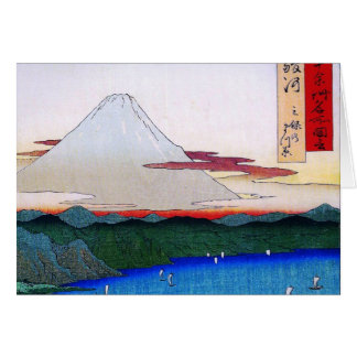 Mt. Fuji viewed from water circa 1800's Card