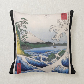 Mt. Fuji viewed from water circa 1800's Pillow