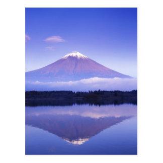 Mt. Fuji with Lenticular Cloud, Motosu Lake, Postcard