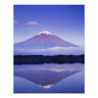 Mt. Fuji with Lenticular Cloud, Motosu Lake, Poster