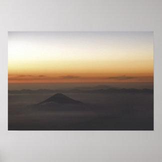 Mt Fujiyama At Sunset - Japan Poster