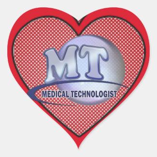 MT FunBlue LOGO - MEDICAL  TECHNOLOGIST LABORATORY Heart Sticker