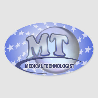 MT FunBlue LOGO - MEDICAL  TECHNOLOGIST LABORATORY Oval Sticker