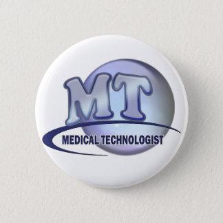 MT FunBlue LOGO - MEDICAL  TECHNOLOGIST LABORATORY Pinback Button