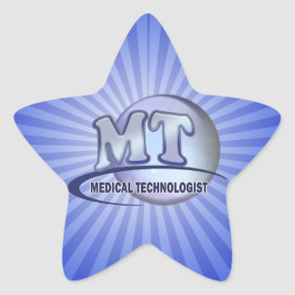 MT FunBlue LOGO - MEDICAL  TECHNOLOGIST LABORATORY Star Stickers