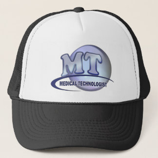MT FunBlue LOGO - MEDICAL  TECHNOLOGIST LABORATORY Trucker Hat