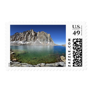 Mt Hitchcock Over Lower Hitchcock Lake - Sierra Postage