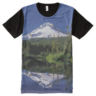 Mt. Hood And A Mirror Lake All-Over Print T-shirt