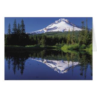 Mt. Hood And A Mirror Lake Card