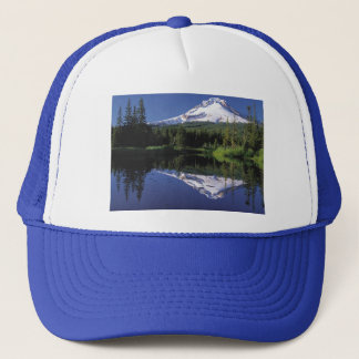 Mt. Hood And A Mirror Lake Trucker Hat