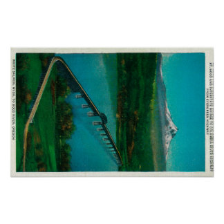 Mt. Hood and Interstate Bridge in White Salmon Poster