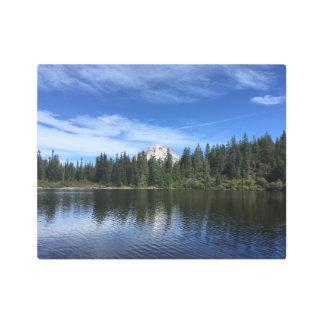 Mt. Hood and Mirror Lake in Oregon Metal Print