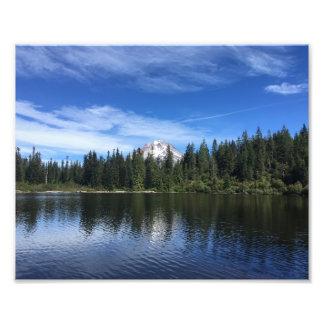 Mt. Hood and Mirror Lake in Oregon Photo Print