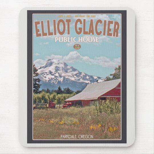 Mt Hood - Elliot Glacier Public House Mouse Pad