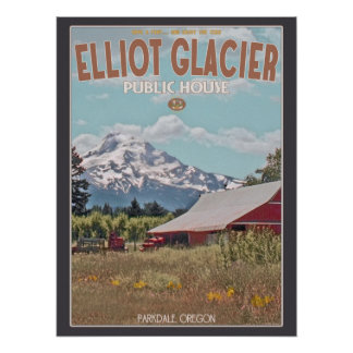 Mt Hood - Elliot Glacier Public House Posters