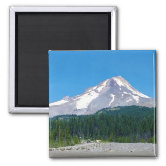 Mt. Hood in Summer 2 Inch Square Magnet