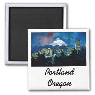 Mt. Hood in the Winter 2 Inch Square Magnet