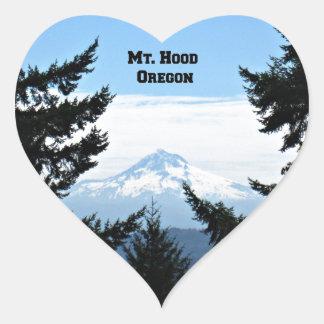 Mt. Hood, Oregon Heart Sticker