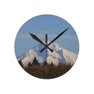 Mt Hood, Oregon Round Wall Clock