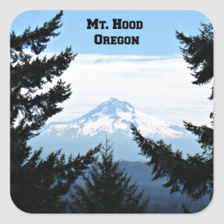 Mt. Hood, Oregon Square Sticker