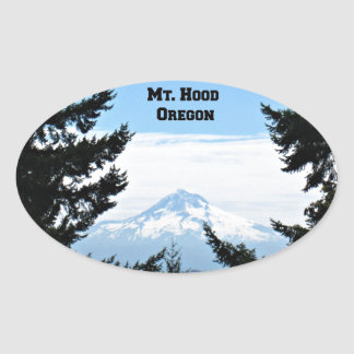 Mt Hood Oregon Oval Sticker