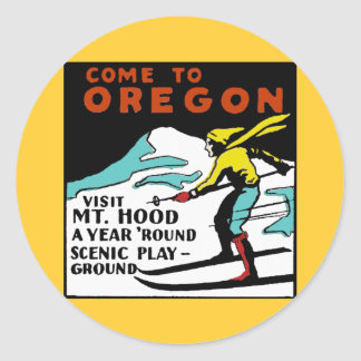 Mt. HOOD OREGON - Vintage Travel Sticker