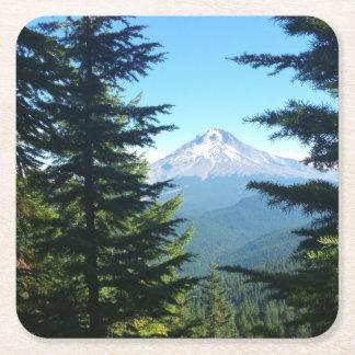 Mt Hood Square Paper Coaster