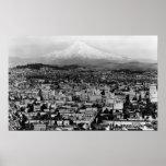 Mt. Hood View from Portland, Oregon Photograph Print
