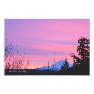 Mt Hood Winter Sunrise Photographic Print