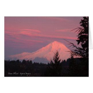 Mt. Hood Winter Sunset Card