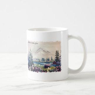 Mt Hood with Bear Grass Coffee Mug Basic White Mug