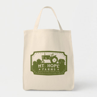 Mt. Hope Farms Market and Grocery Tote Canvas Bag