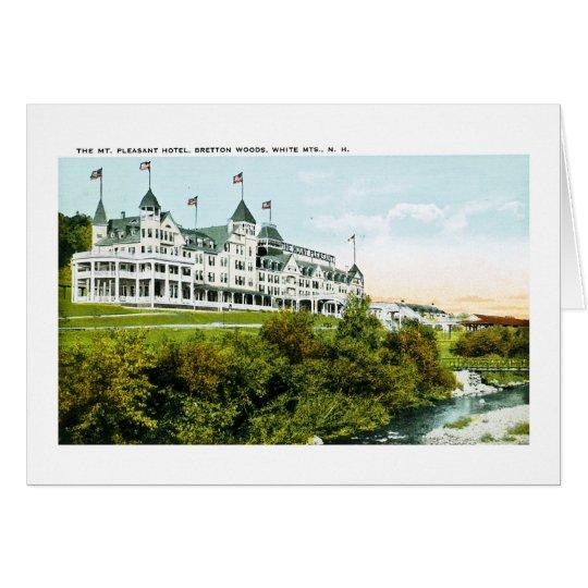 Mt. Hotel agradable, montañas blancas, New Tarjeta De Felicitación