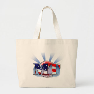MT IN THE USA - PATRIOTIC MEDICAL TECHNOLOGIST LARGE TOTE BAG