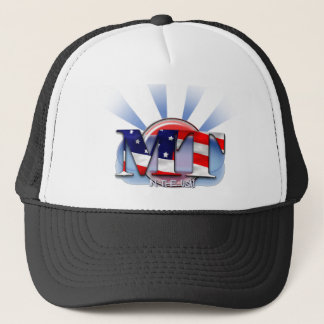 MT IN THE USA - PATRIOTIC MEDICAL TECHNOLOGIST TRUCKER HAT