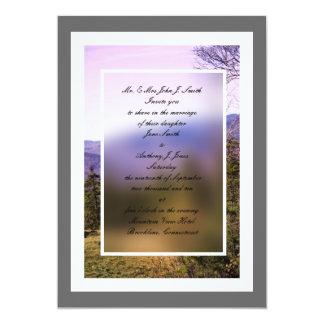 Mt. Invitación del boda de la visión