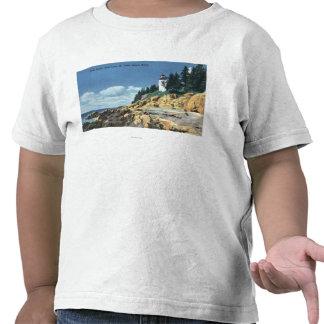 Mt. Isla desierta, faro bajo de la cabeza del Camiseta