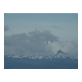 Mt Jefferson Oil Painting Poster