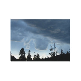 Mt Jefferson Oregon Landscape Skyscape Waterscape Stretched Canvas Print