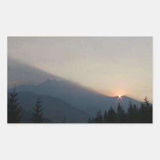 Mt Jefferson Oregon Landscape Skyscape Waterscape Rectangular Sticker