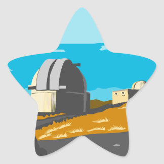 Mt John Observatory Lake Tekapo WPA Star Sticker