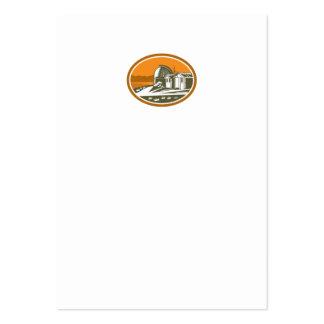 Mt John University Observatory Retro Business Card Template