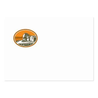 Mt John University Observatory Retro Business Card