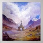 Mt Kailash Stupa Tíbet de Lynda Vugler Poster