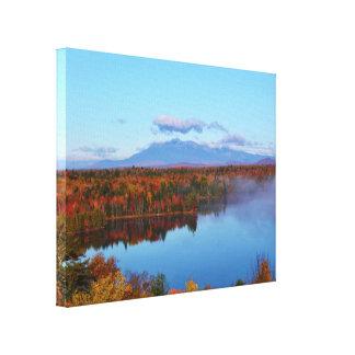 Mt.Katahdin Autumn Scenery Canvas Print
