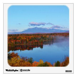 Mt.Katahdin Autumn Scenery Wall Sticker